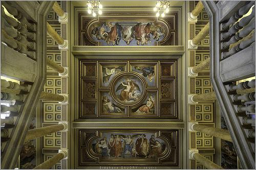 Hungarian National Museum ceiling