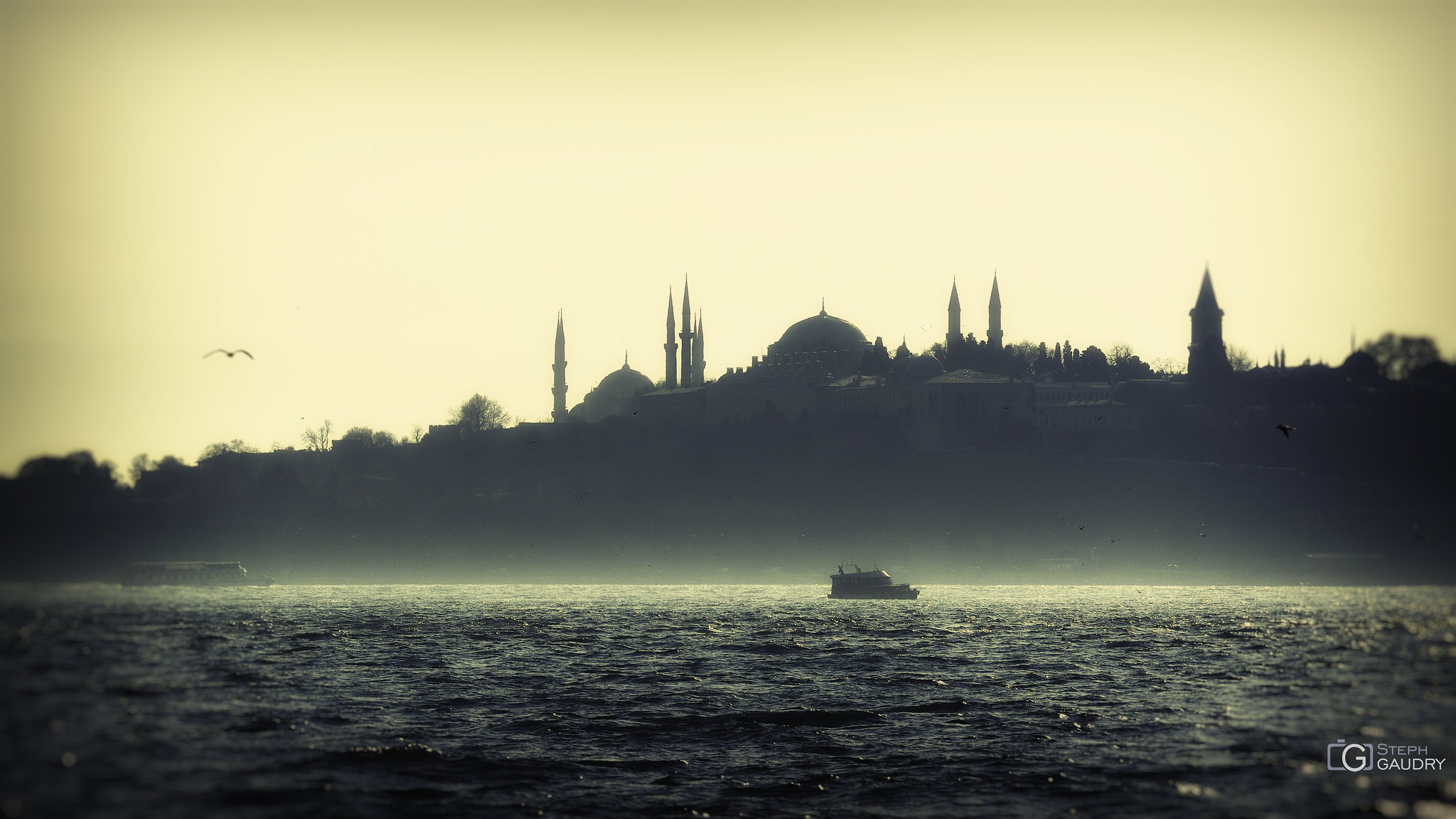 Sunset on the Bosphorus [Cliquez pour lancer le diaporama]