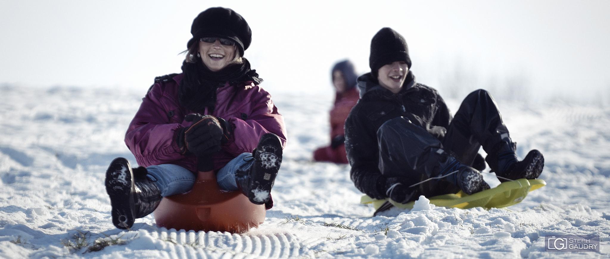 Snow sled races