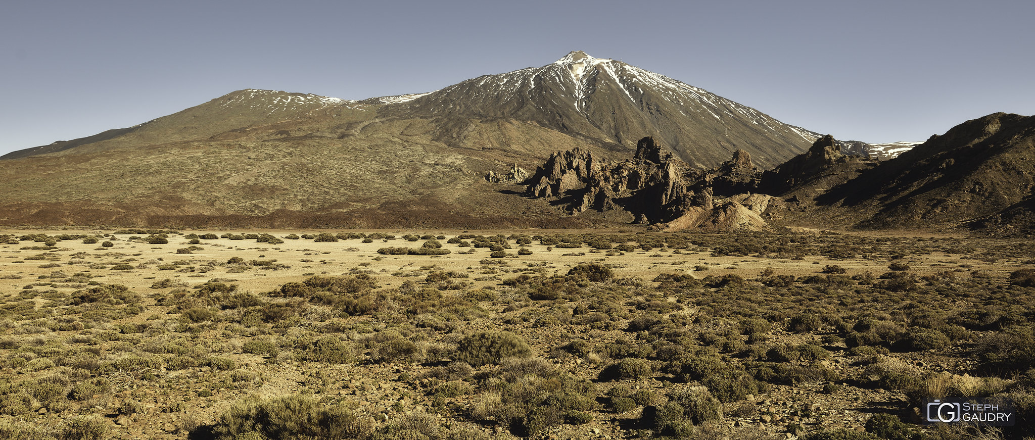 Los Roques de Garcia desde la Orotava [Klik om de diavoorstelling te starten]