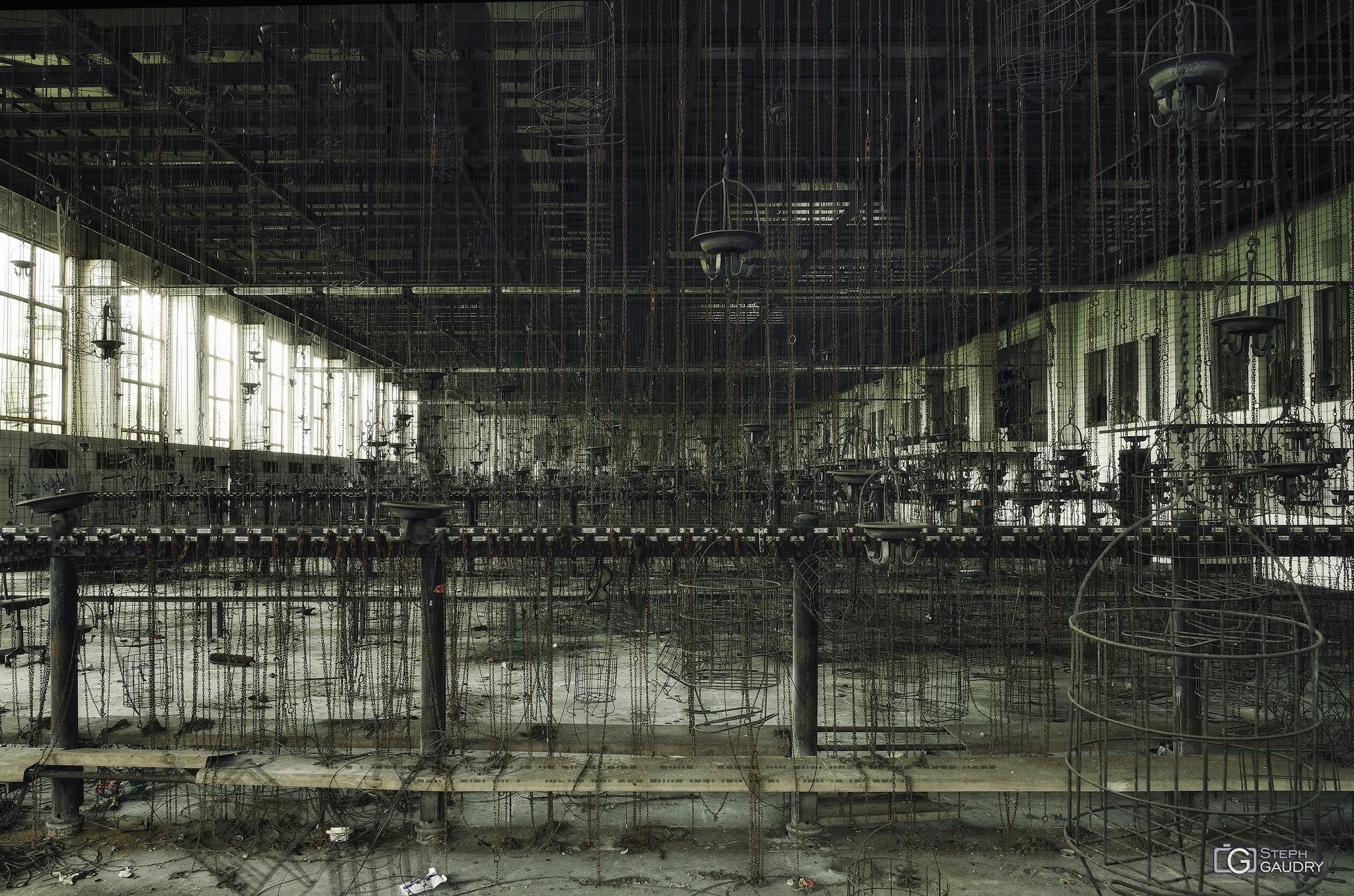 Zeche Hugo cages room [Click to start slideshow]
