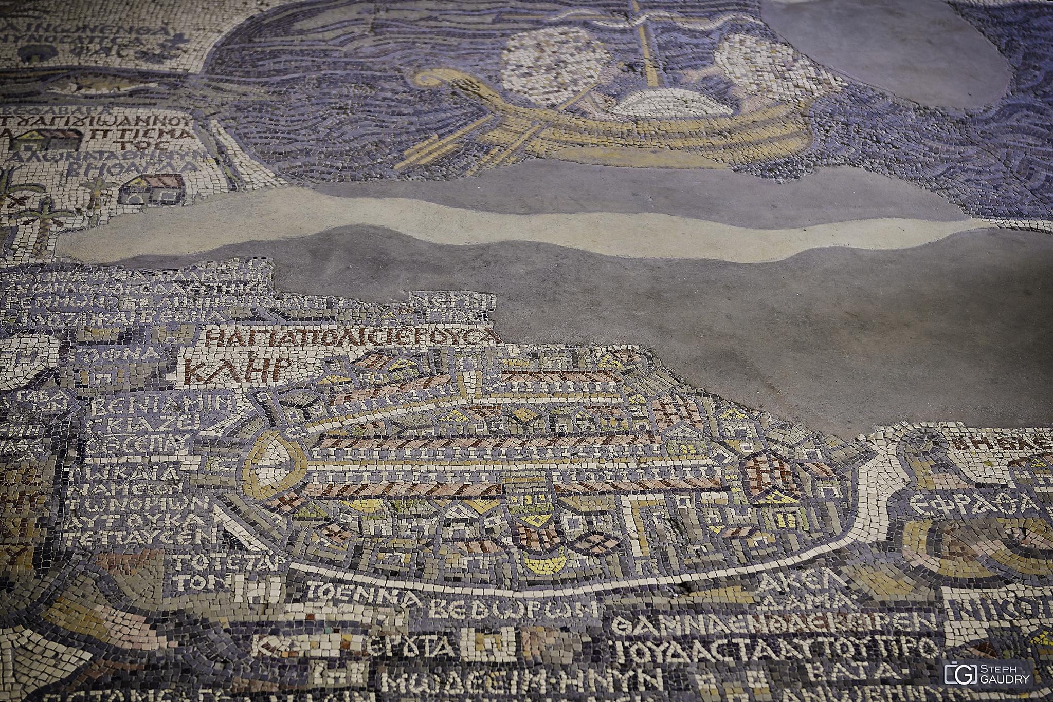 Mosaïque de la carte de Madaba - Jerusalem