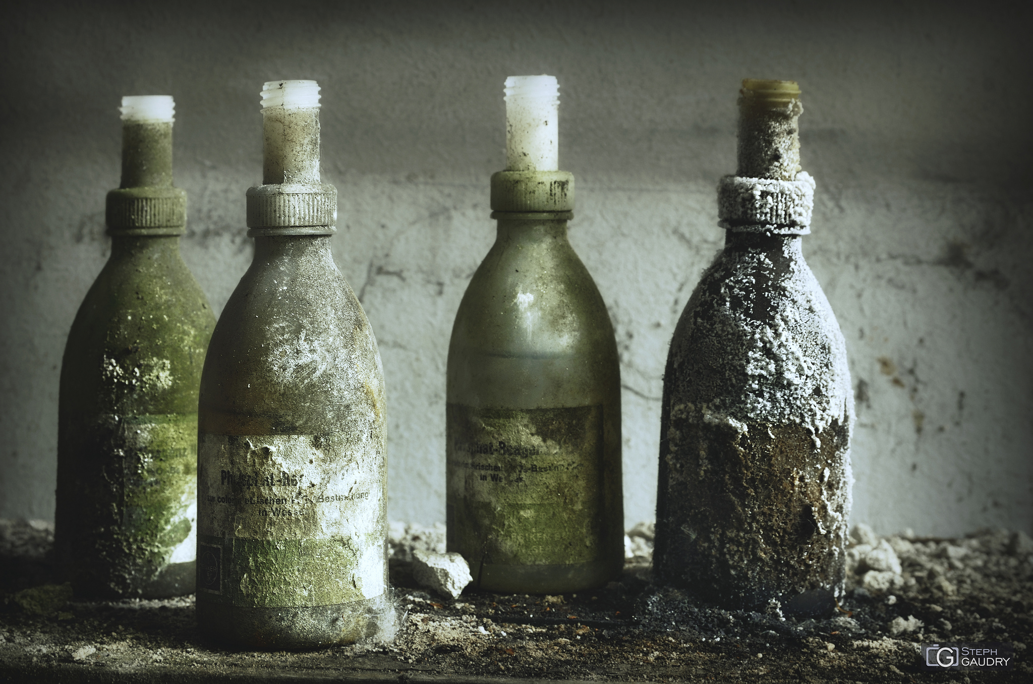 Four Green Bottles hanging on the wall...