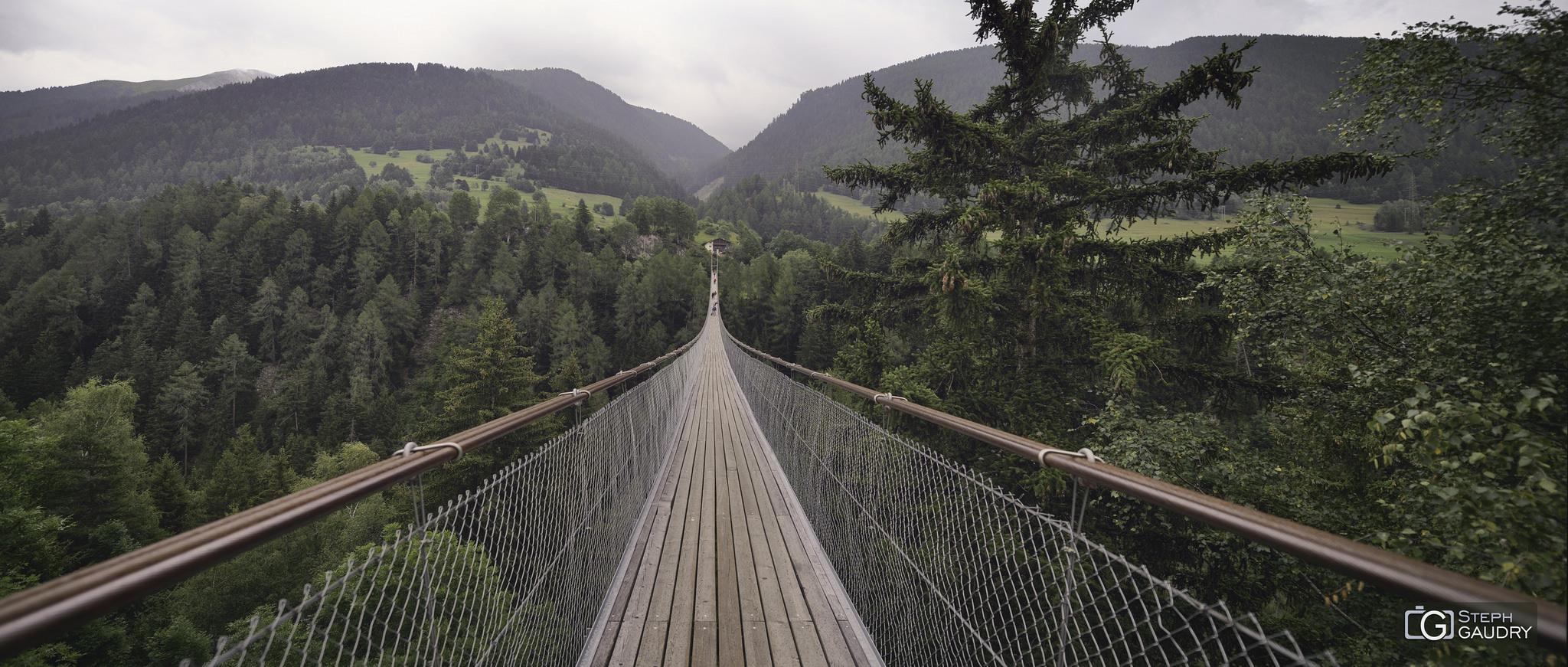 Hängebrücke Fürgangen - Mühlebach [Click to start slideshow]