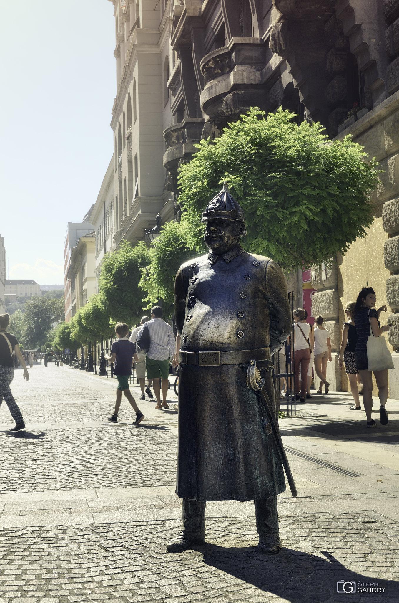 Hungarian policeman statue [Klik om de diavoorstelling te starten]