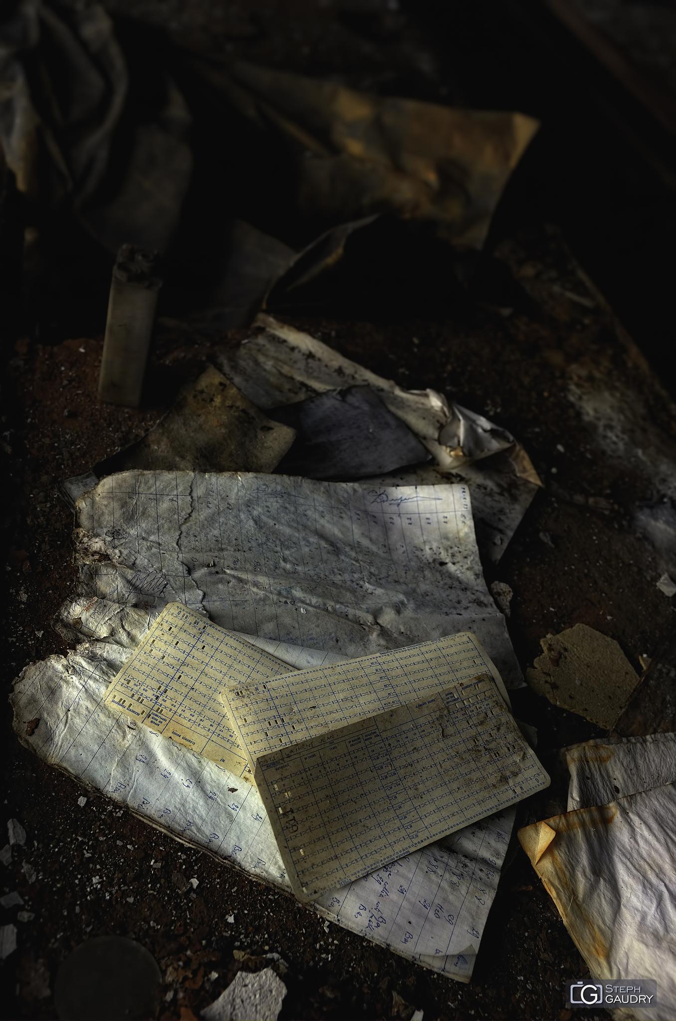Fiches du charbonnage abandonné [Klik om de diavoorstelling te starten]