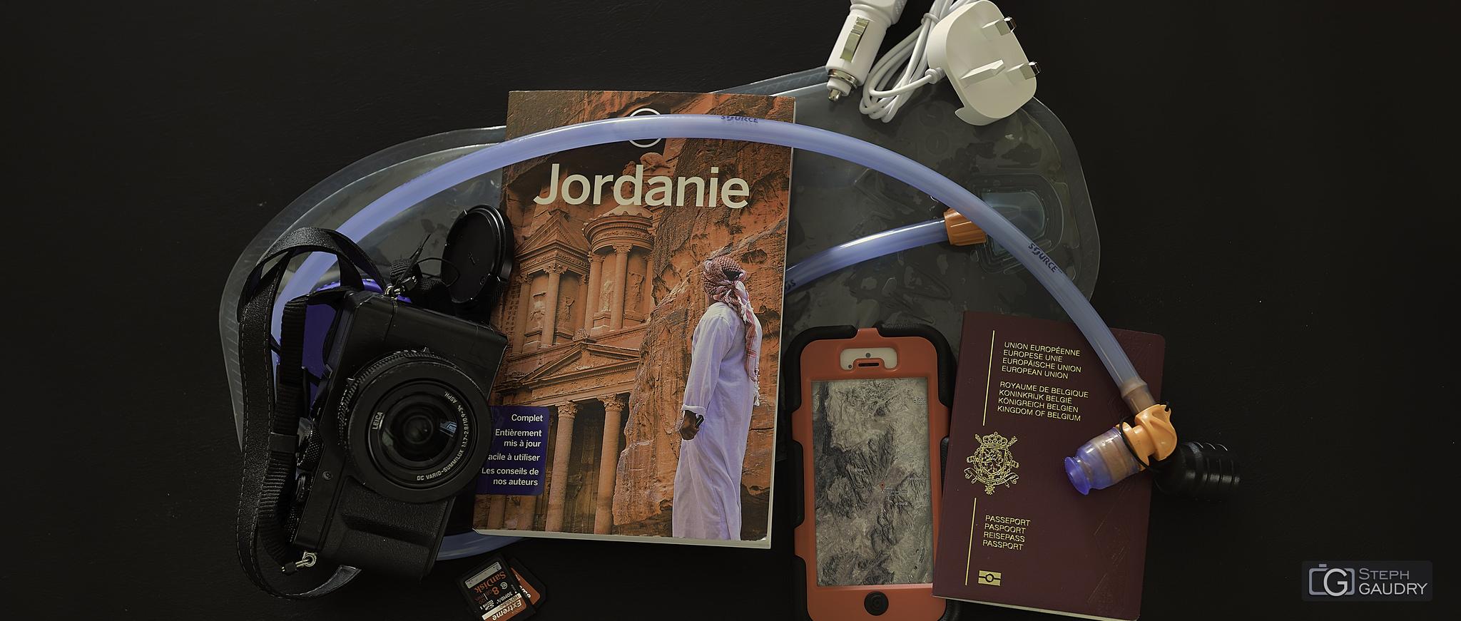 Préparatifs pour le départ vers la Jordanie [Cliquez pour lancer le diaporama]