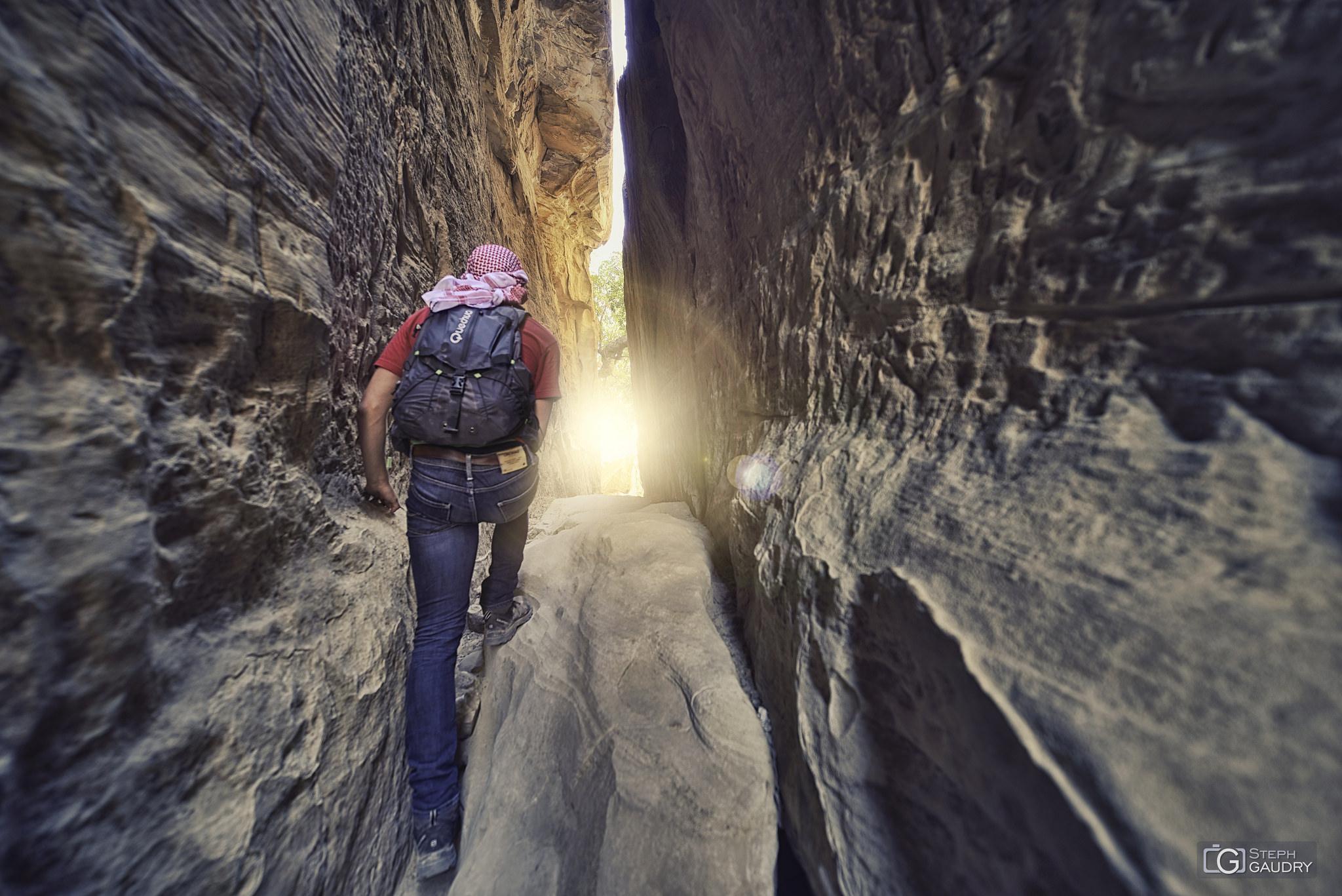 Hiking in Jordan with my son Tom [Cliquez pour lancer le diaporama]