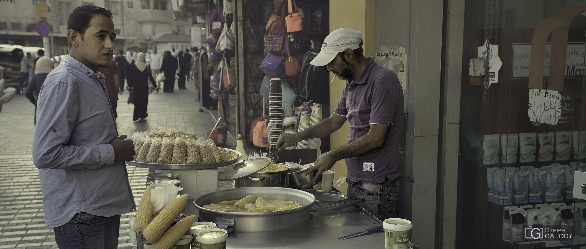 Marchand de maïs à Hamman (JOR) [Cliquez pour lancer le diaporama]