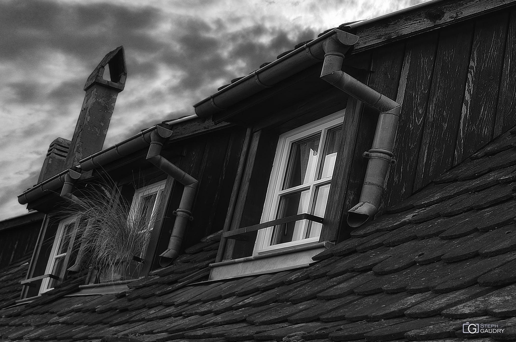 Lucarnes et tuiles en queue de castor - Alsace [Cliquez pour lancer le diaporama]
