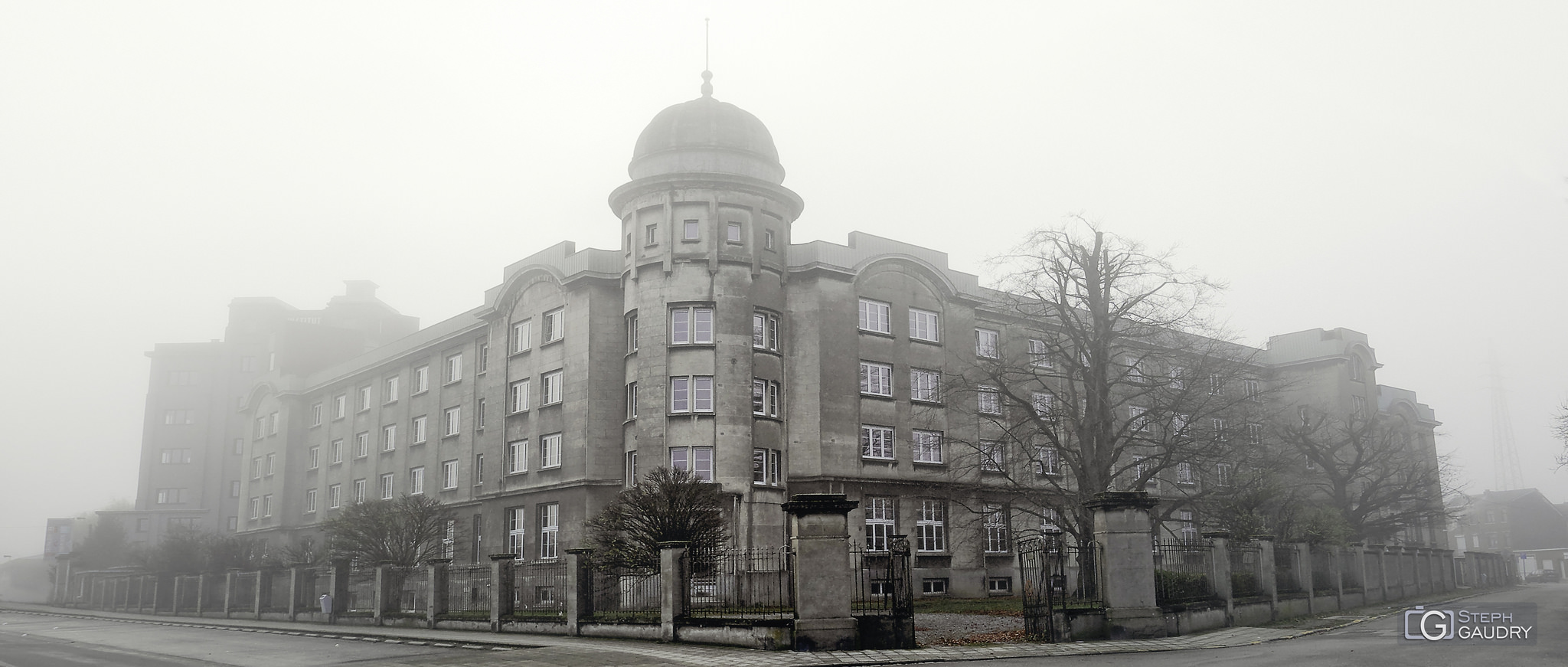 Brouillard ce matin sur Liège...