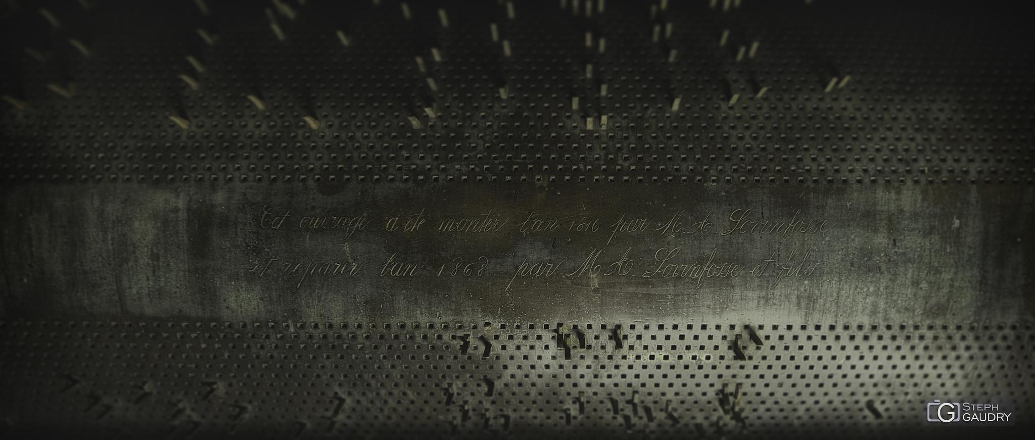 Tambour programmable du carillon de Saint-Barthélemy [Cliquez pour lancer le diaporama]