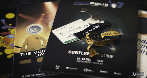 Devoxx 2014:  After the last talk, the bracelet can now join the geek stuff.