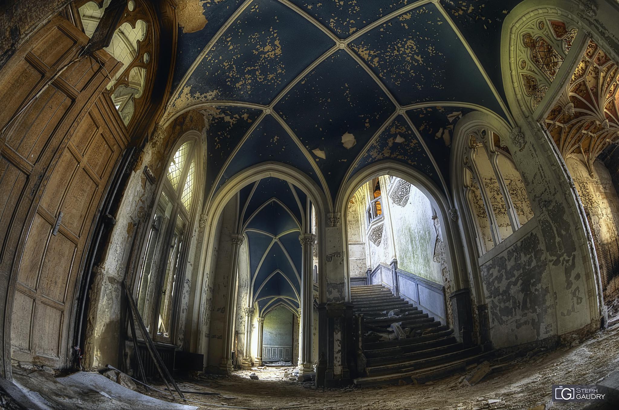 Noisy - le plafond bleu de l'entrée [Click to start slideshow]