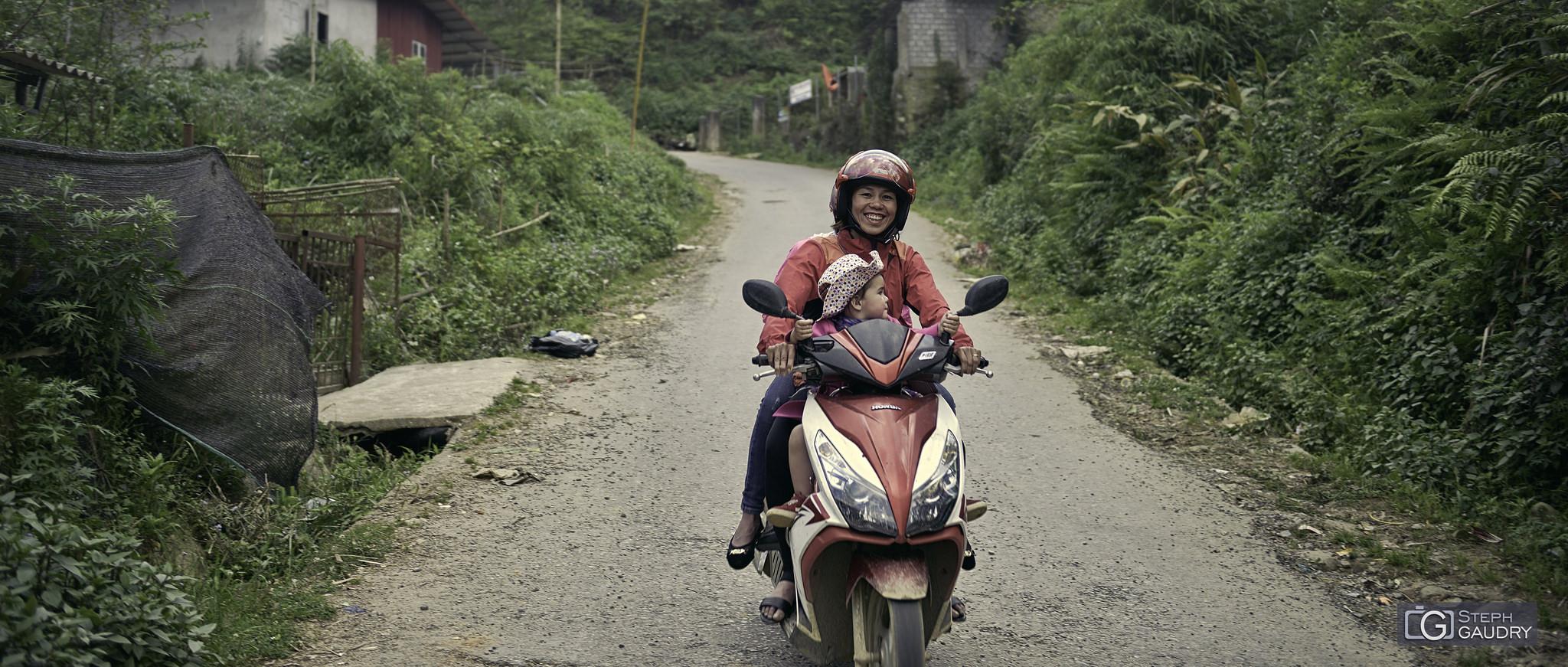 Vietnam - les joies du scooter [Klik om de diavoorstelling te starten]