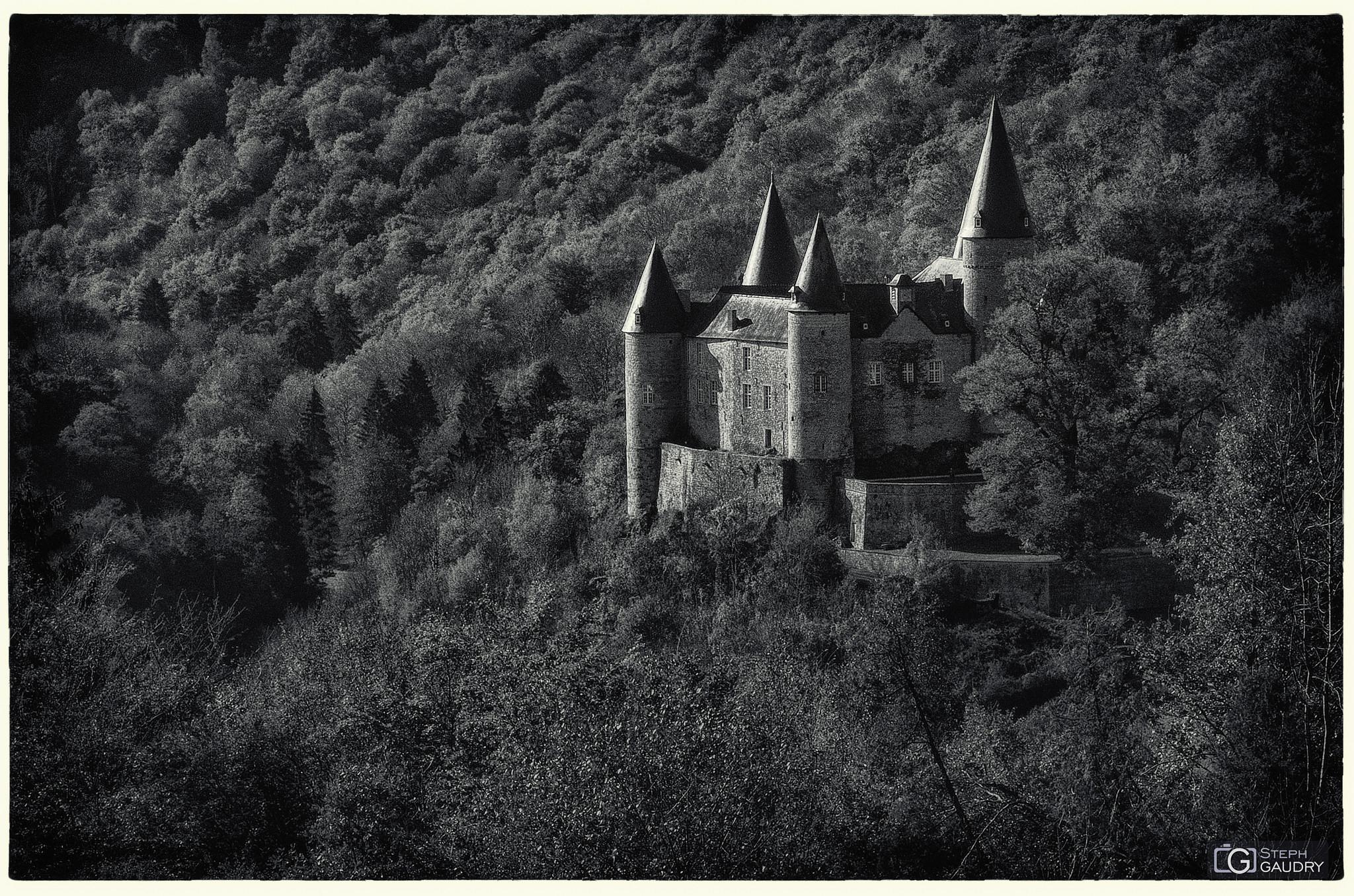 Château de Vêves - vu depuis un autre château [Cliquez pour lancer le diaporama]