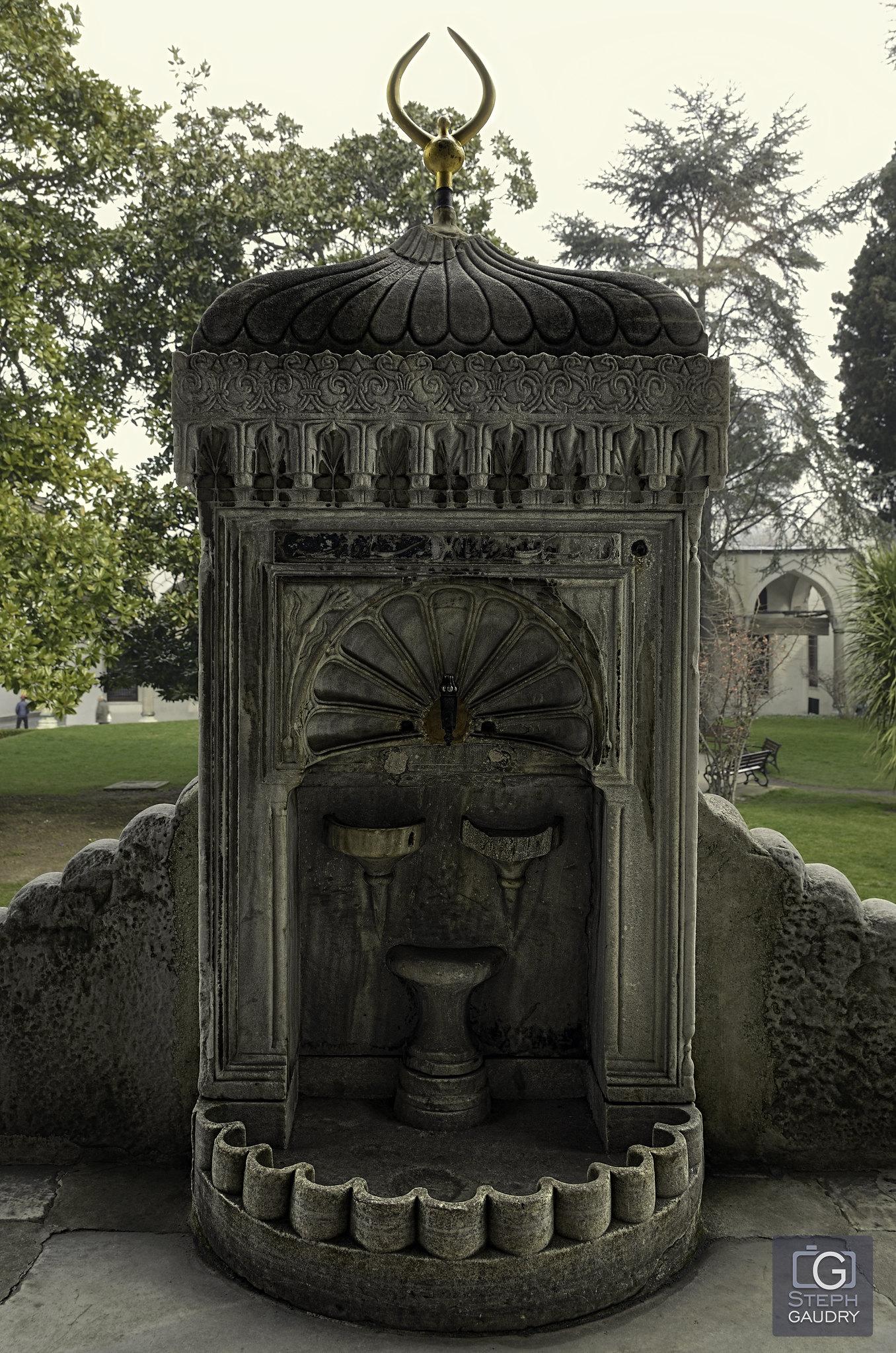 Fontaine dans le palais de Topkapi [Click to start slideshow]