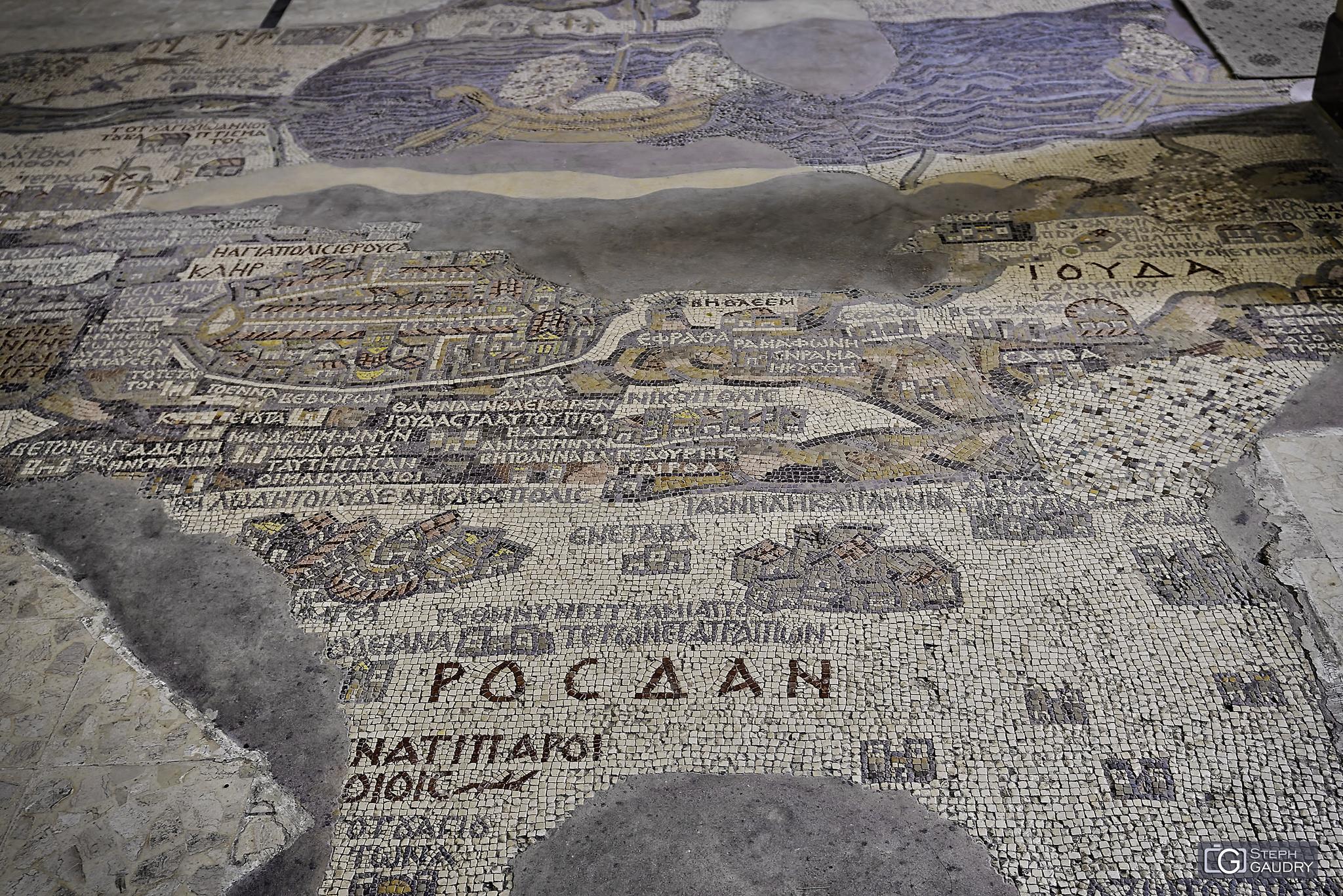 Mosaïque de la carte de Madaba [Klicken Sie hier, um die Diashow zu starten]