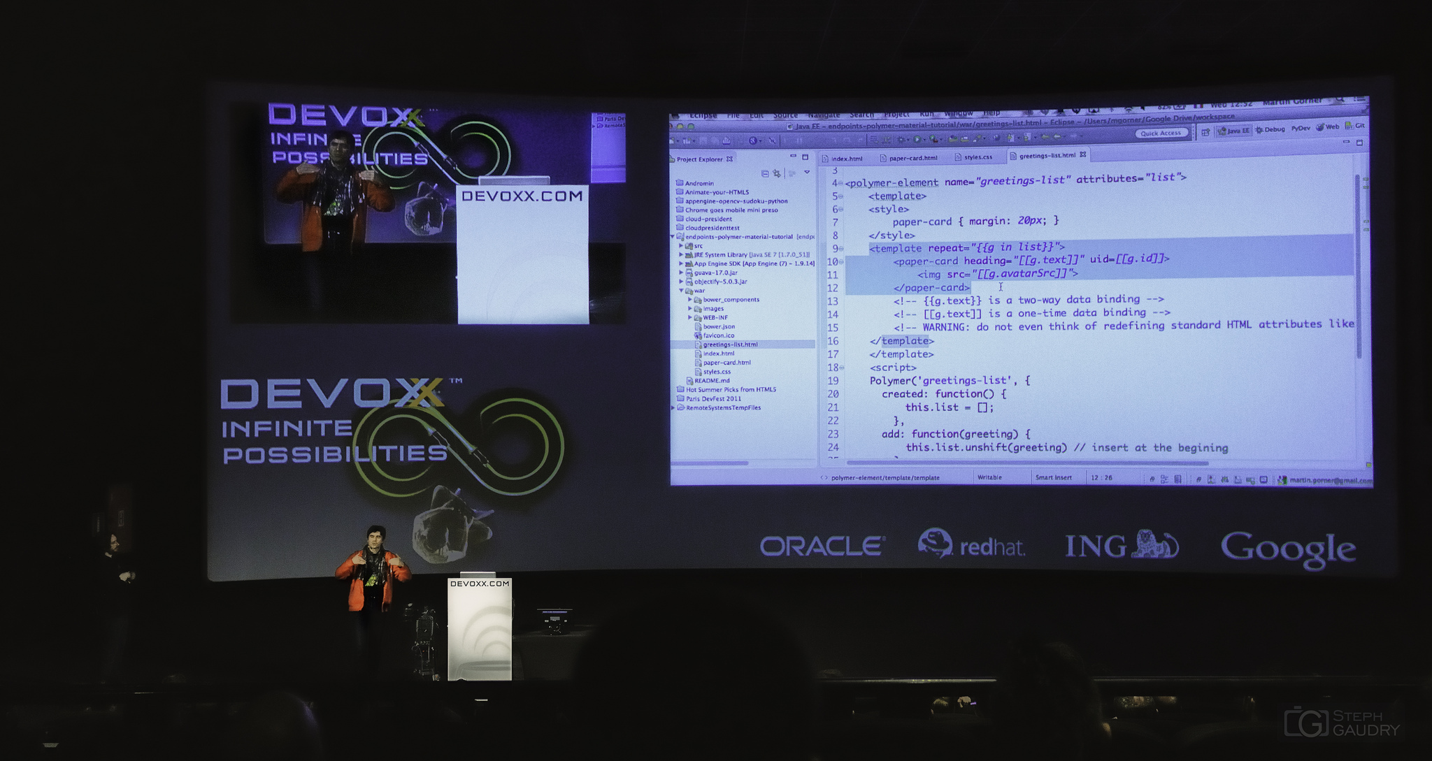 Devoxx 2014 - Easily Creating Beautiful Web Apps with Polymer and Paper Elements. [Cliquez pour lancer le diaporama]