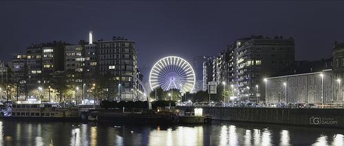 La grande roue de la foire à Liège