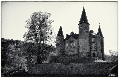 Château de Vêves - vu depuis la route