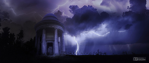Storm rumbling on lost  temple