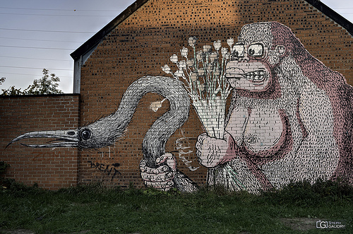 Doel, Proposal of marriage - gorilla version by Roa