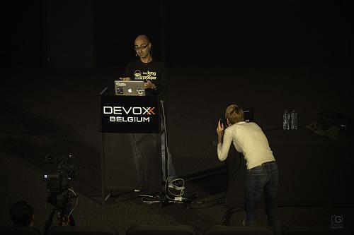 Alex Soto @ Devoxx2015... and the official photographer