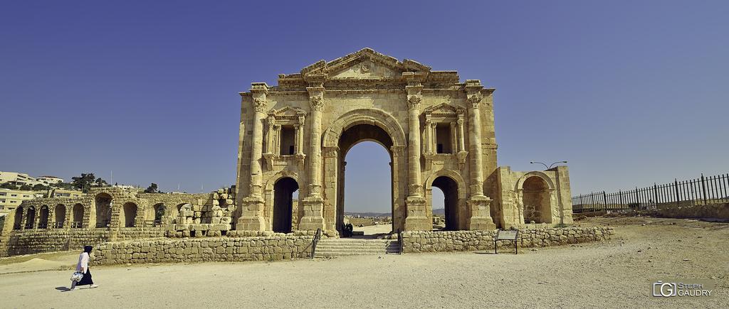 Jerash - L'arc d'Hadrien