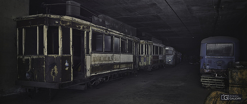 The abandoned streetcars