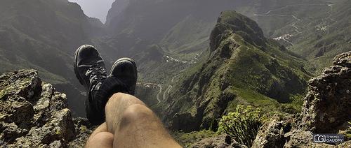 Trekking : El descanso y la vista sobre el Barranco de Masca