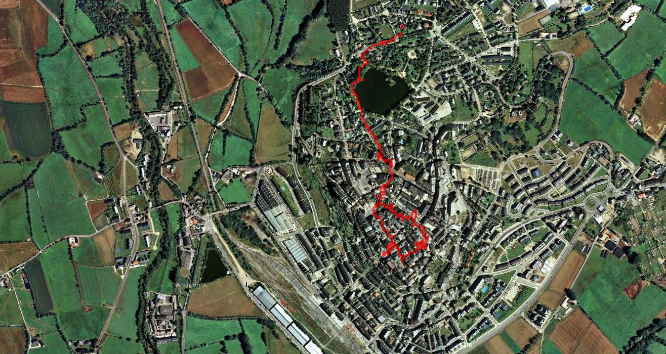 Tracé d'une partie de la visite de Puigcerdà en joëlettes