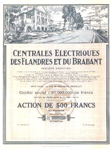 Action centrales électriques des Flandres et du Brabant