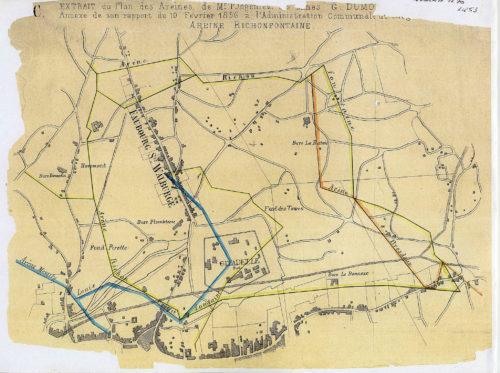 Plan des areines de Liège en 1856