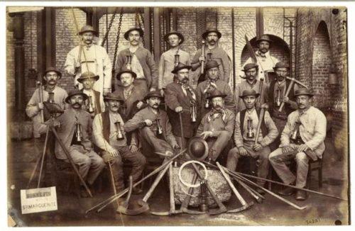 Mineurs de Ste Marqurite dans les années 1890