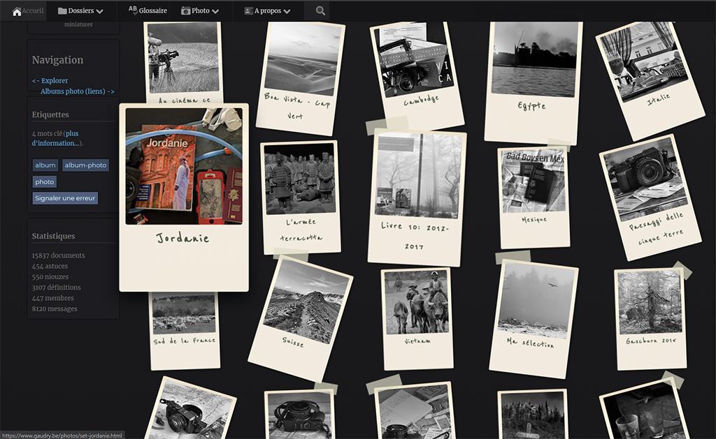 albums sous forme de polaroids