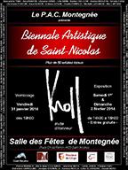 Affiche de la biennale artistique de Saint-Nicolas 2014