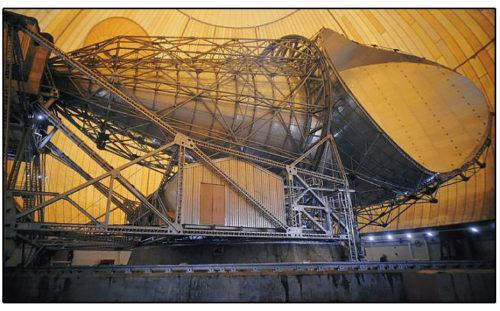 Photo de l'antenne cornet de Pleumeur-Bodou