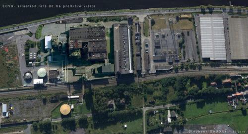 Vue de la centrale électrique ECVB lors de ma première visite