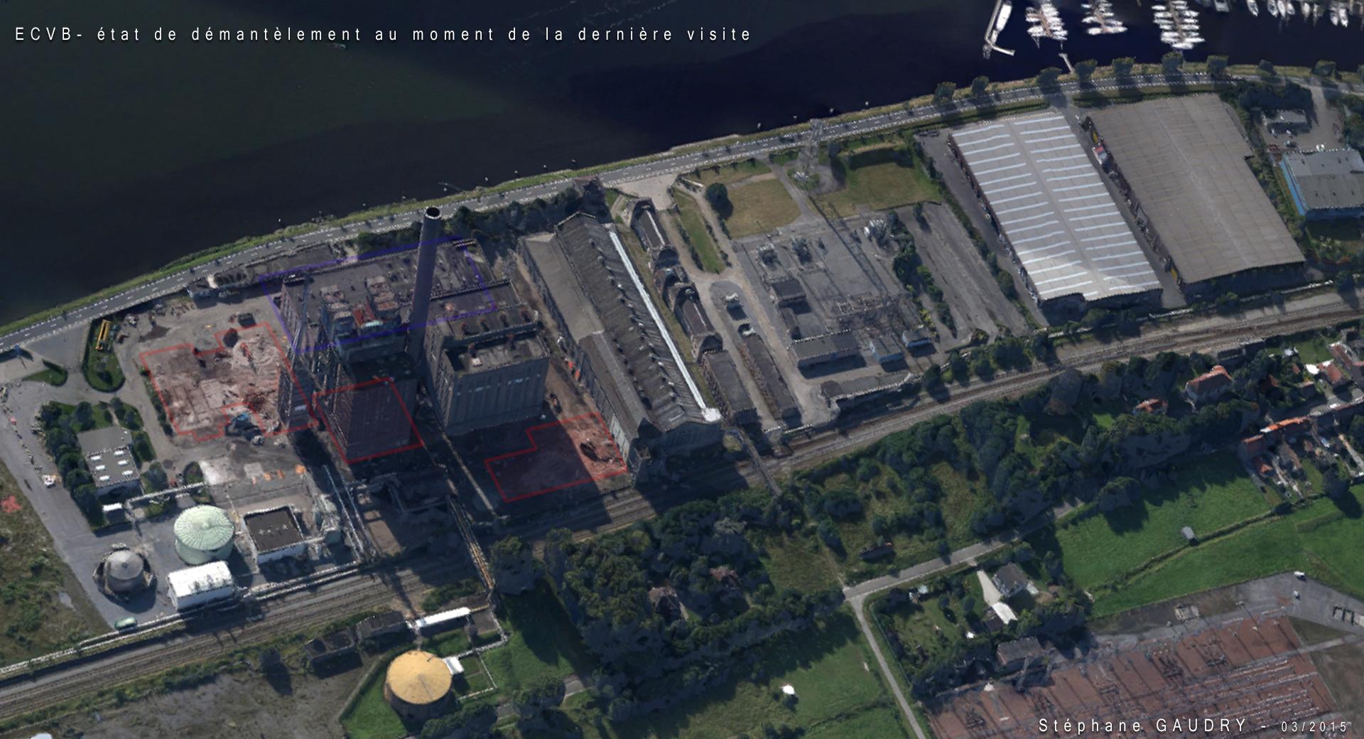 Vue 3D de la centrale électrique ECVB lors de ma dernière visite