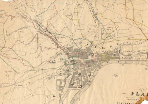 Plan des areines de Liège