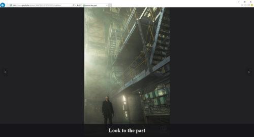 Le titre apparait au survol, et le fond est plus sombre pour améliorer la lecture