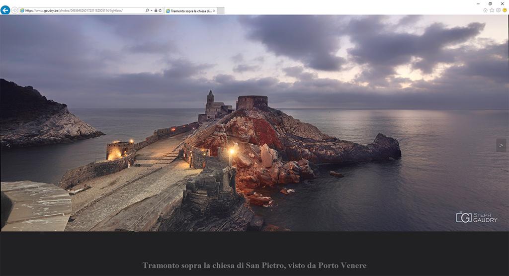 Capture d'écran de la photo vue en mode lightbox