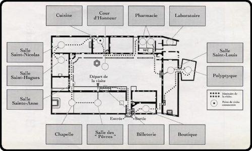Plan des hospices de Beaune